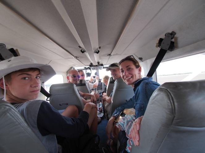 Preparing for the flight over the Okavango delta.
