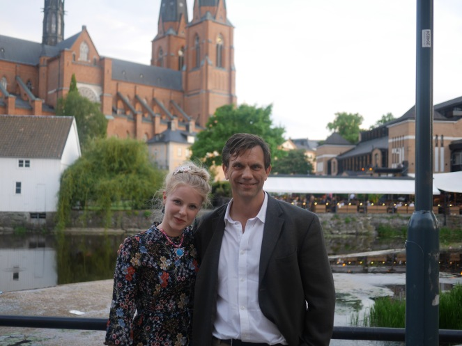 Josefin and I after the party.